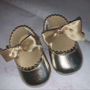 Janie & Jack | Baby Metallic Crib Shoe